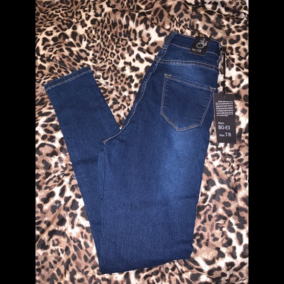 Denim - Super-High wasted denim skinny jeans